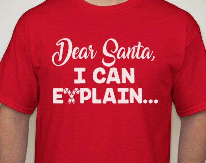 Dear Santa, Let me explain Shirt