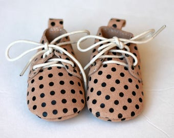 FREE SHIPPING! Oxford Baby Shoes, Baby Moccasins, Leather Baby Lace Up Boot, Baby Boy Moccs, Baby Oxford Shoes, Baby Shower Gift