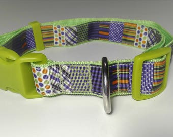 Adjustable Mix Dog Collar - Green