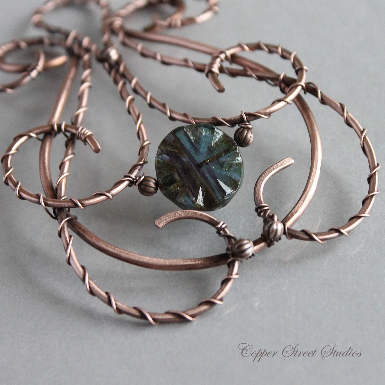 Tragbare Kunst einzigartige Kupfer Haar Clip Draht umwickelt