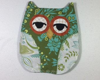 OWL Pot Holder Hot Pad Hostess Gift Kitchen Handmade Ready to Ship, Sorority Owl, Housewarming Gift, Thank You Gift, Teacher Gift
