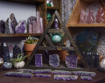 Handmade Ebony 'Trinity' Triangle Shelf!