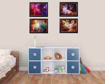 space nursery print, boys room art, nursery space decor, galaxy wall print, nursery art space,  galaxy print art, kids bathroom art