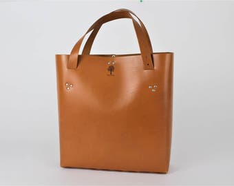 Small Leather Tote Bag, Leather Womens Bag