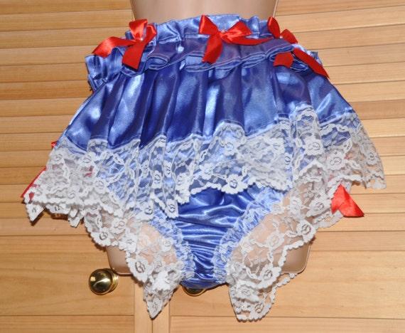 TINKLY PANTIES....lacy silkyskirted satin panties with bells on - Sissy Lingerie