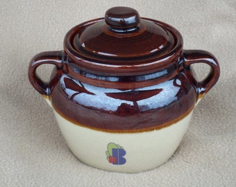 Vintage Stoneware Crock; Monmouth Pottery