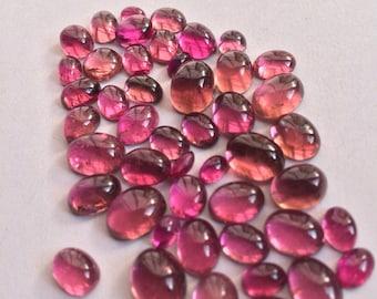 Pink tourmaline oval parcel.tcw-55.2,mix sizes.