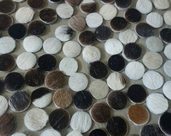10 mm. (1 cm.), Hair on Cowhide, Leather Circles, Leather Circle Die Cut, DIY Projects.