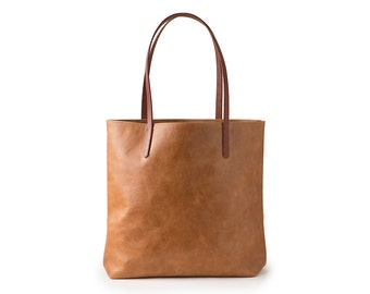 Brown Leather Bag // Large Leather Tote // Soft Leather Bag