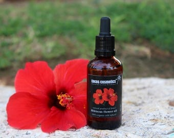 Mothers Day Gift /  Hibiscus Oil / Natural hair care for hair growth / Hibiscus flower oil / Anti Hair Loss