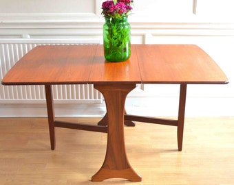 Vintage G Plan drop leaf teak table. Delivery. Modern/mid century.
