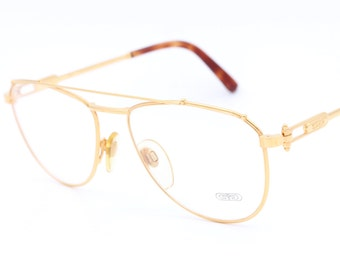 gerald genta gold and gold 03 designer eyeglasses with gold plated frame aviator glasses 90s glasses