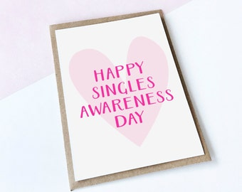 Anti-Valentine's Day Card, Singles Valentine's Card, Funny Card, Anti Love Card, Valentine's Day Card