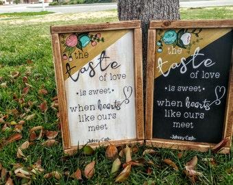 Ring of Fire Lyrics Wooden Sign