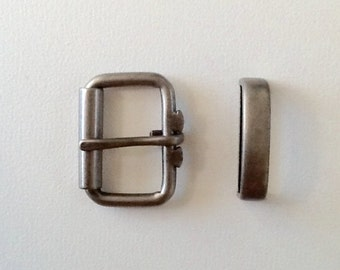 Buckle and keeper silver
