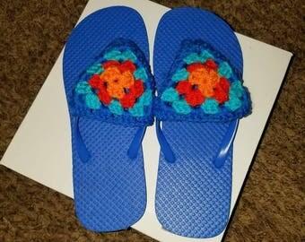 Crochet Granny Flip Flops
