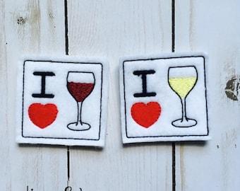 I Love Wine Feltie
