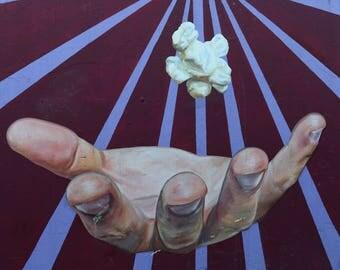 Chicago Street Art // Jeff Zimmerman mural, hand, popcorn, mural, graffiti, urban art, original photograph