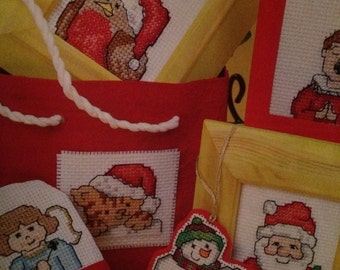 Christmas Cheer 38 Festive Faces Cross Stitch Pattern
