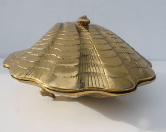 Vintage Brass Shell Box.