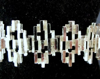 Terrific 1960's Modernist Layered Bracelet