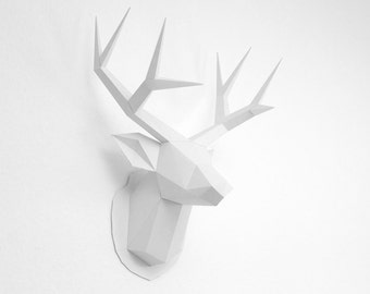 Deer trophy printable building kit
