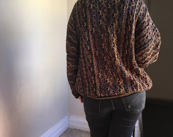 Colorful Chunky Oversized Vintage Mens Sweater by Tundra