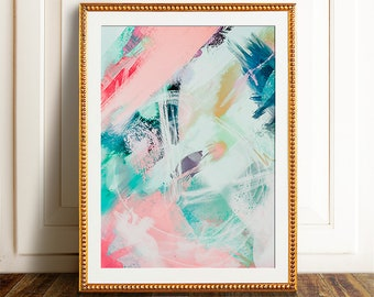 Abstract wall art, PRINTABLE art, Abstract printable, Abstract art, Colorful art, Modern painting, Abstract painting, Brushstroke art