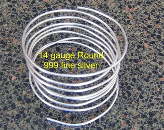 One + ounce ( .92 Troy oz)  .999 Fine silver wire 14 gauge Round dead soft 4 feet 6 inches 28 + grams pure