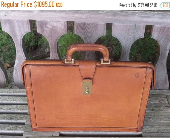 Football Days Sale Rare Hartmann Natural Tan Belting Leather Lawyer Executive Gladstone Style Briefcase Attache- Excellent Used Condition