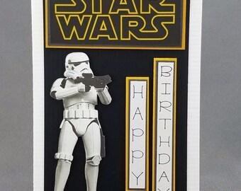 Handmade  Storm Trooper Card