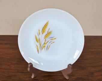 Vintage Anchor Hocking Fire King Wheat Pattern Milk Glass Dinner Plate