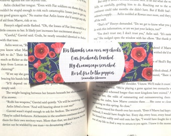 He Set Fire to the Poppies Bookmark