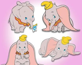 Dumbo SVG Dumbo Disney Cute Elephant Clipart Cut File  Vector Printable Vinyl Cut
