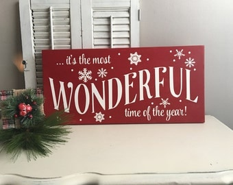 It's a Wonderful Life Wood Sign - Christmas Decorations - Christmas Signs - Holiday Decor - It's the Most Wonderful Time of the Year