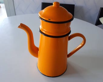 60s enameled coffee