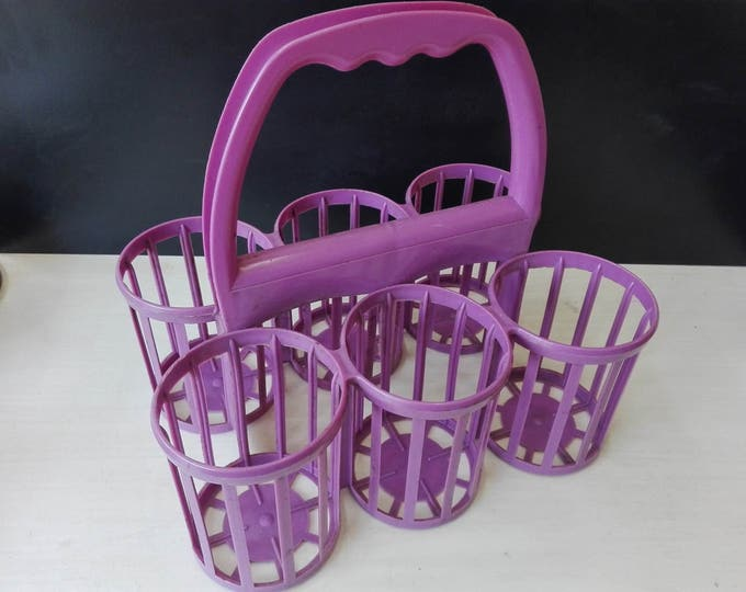 Vintage plastic purple bottle rack