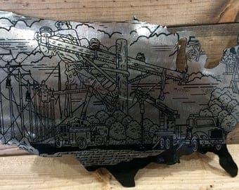 USA Lineman 14g steel