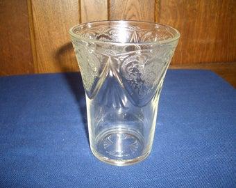 Hazel-Atlas Royal Lace Clear Tumbler...9 Ounces...1930s