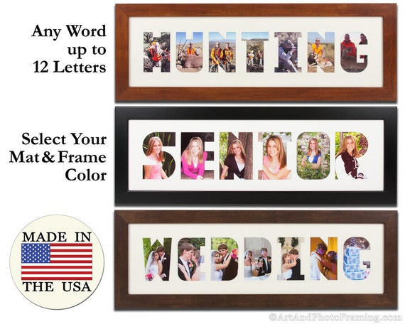 Collage Frame Wordmat Picture Frame Name Cutout Word Art