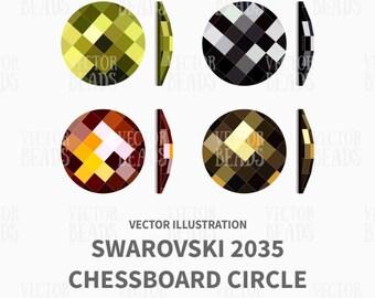 Swarovski 2035 Chessboard Vector Illustration - ai, eps, pdf, png