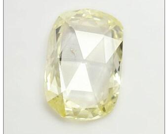 Beautiful 0.44 Carat Diamond Rose Cut Long Cushion Shape