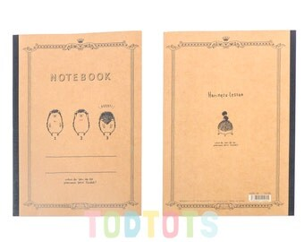 Notebook - Hedgehog Exercise Book | Lined Book