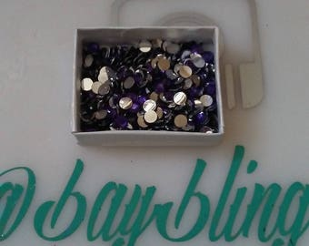 purple 5mm rhinestones