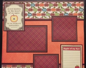 APPLE ORCHARD Premade 12x12 scrapbook page