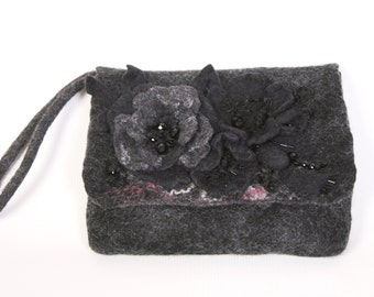 100% Wool Clutch Bag