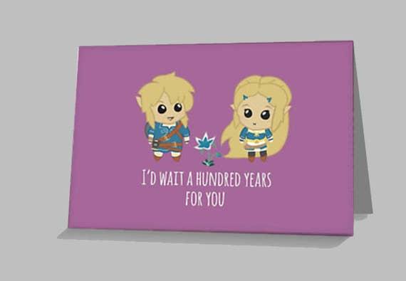 Zelda Breath of the Wild Card Legend of Zelda inspired – Legend of Zelda Valentine Card