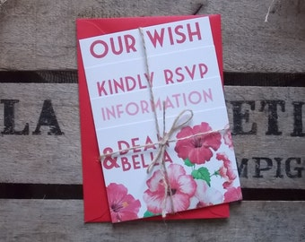 Rustic Vintage Wedding Invitations Rustic Flower Set
