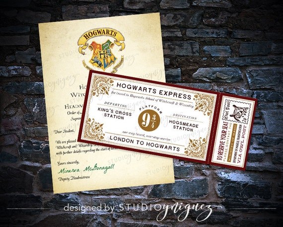 CUSTOM Harry Potter Hogwarts Acceptance Letter And Hogwarts