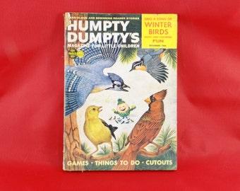 Humpty Dumpty Magazine November 1964 Winter Birds Magazine for Little Children